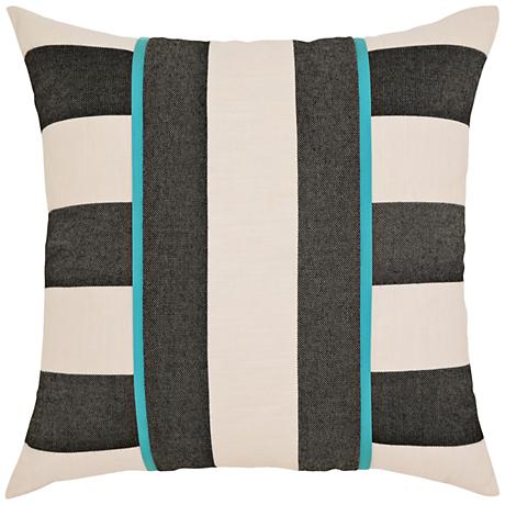 "Elaine Smith Harmony Stripe 20"" Square Indoor-Outdoor Pillow"