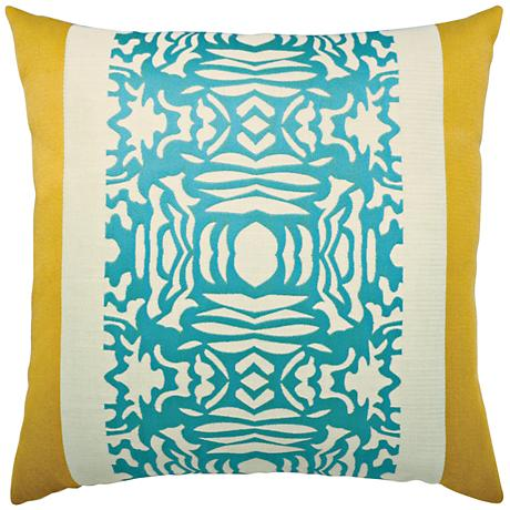 "Elaine Smith Aruba Block 22"" Square Indoor-Outdoor Pillow"