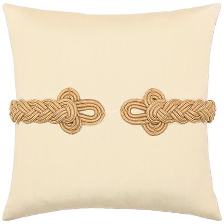 "Golden Frog's Clasp 19"" Square Indoor-Outdoor Pillow"