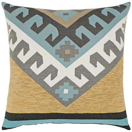 "Canyon Peak Sky 22"" Square Indoor-Outdoor Pillow"