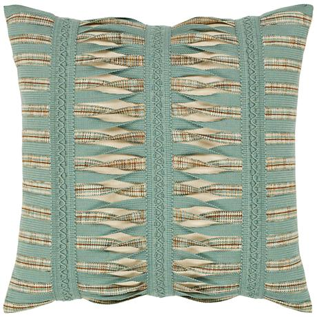 "Elaine Smith Gladiator Spa 20"" Square Indoor-Outdoor Pillow"