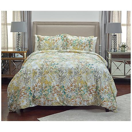Gypsy Jane Multi-Color Yellow 3-Piece Cotton Duvet Set
