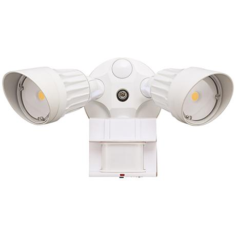 "Eco-Star 13""W 3000K LED Motion Security Flood Light in White"