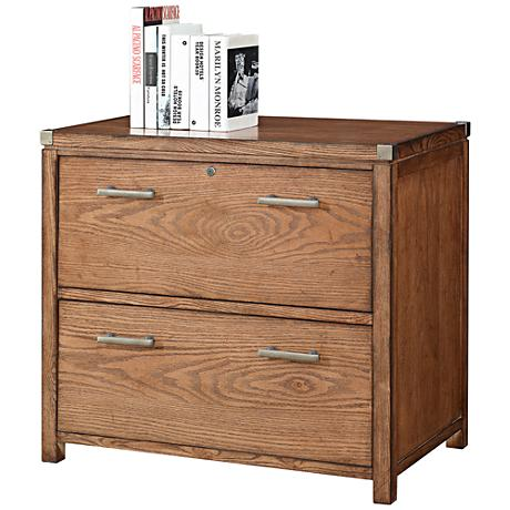 Arcadia Tuscan Chestnut 2-Drawer Locking Lateral File