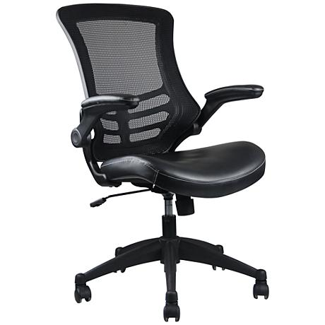 Intrepid Black Faux Leather Adjustable Office Chair