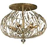 "Varaluz Bask 19 1/2"" Wide Gold Dust Ceiling Light"