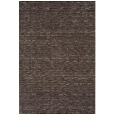 Dalyn Rafia RF100CC Hand-Loomed Charcoal Wool Area Rug