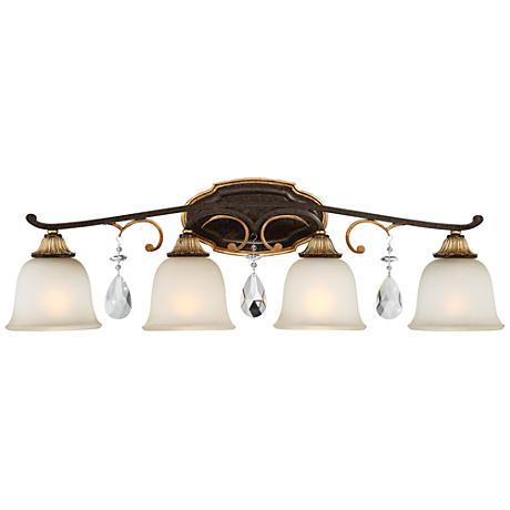 "Metropolitan Chateau Nobles 32 1/2""W Bronze Bath Light"