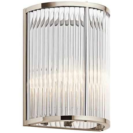 "Kichler Artina 12 1/4"" High Polished Nickel Wall Sconce"
