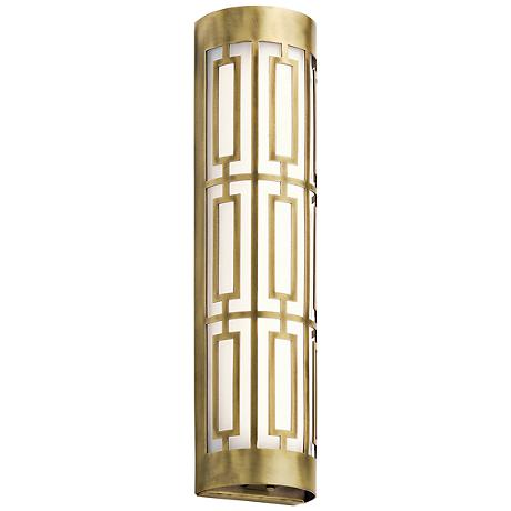 "Kichler Empire 20""W LED Natural Brass Linear Bath Light"