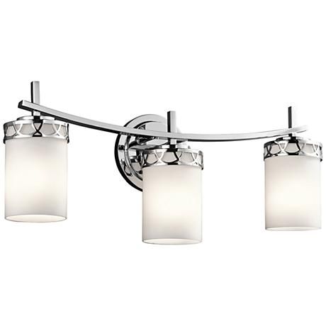 "Kichler Marlowe 3-Light 24""W Polished Chrome Bath Light"