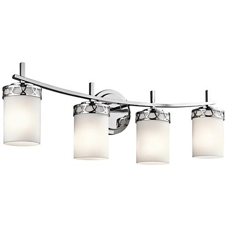 "Kichler Marlowe 4-Light 24""W Polished Chrome Bath Light"