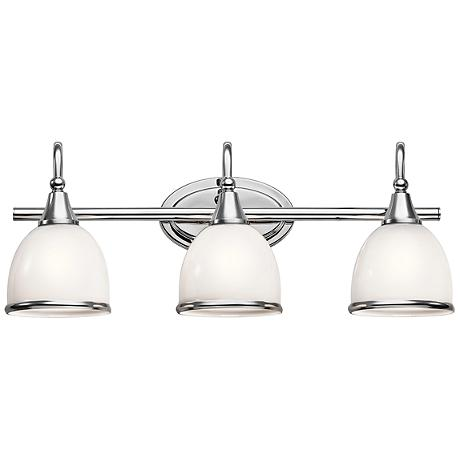 "Kichler Rory 24"" Wide 3-Light Polished Chrome Bath Light"