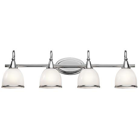 "Kichler Rory 33 1/4""W 4-Light Polished Chrome Bath Light"