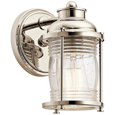 "Kichler Ashland Bay 5"" Wide Polished Nickel Wall Sconce"