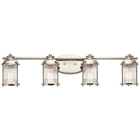 "Kichler Ashland Bay 33 3/4""W Polished Nickel Bath Light"