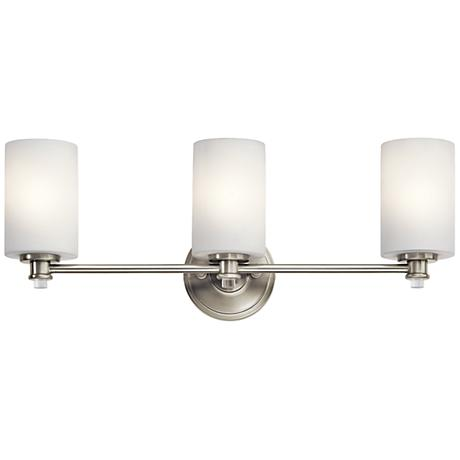 "Kichler Joelson 3-Light 24""W Brushed Nickel Bath Light"