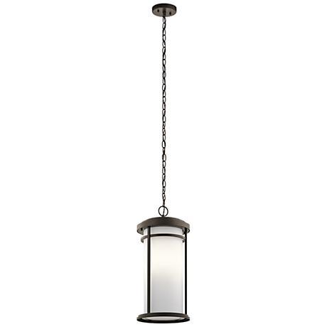 "Kichler Toman 10"" Wide Olde Bronze Outdoor Hanging Light"