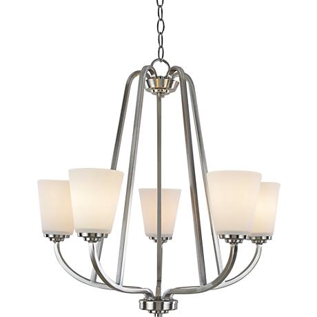 "Artcraft Hudson 24 1/2""W Brushed Nickel 5-Light Chandelier"
