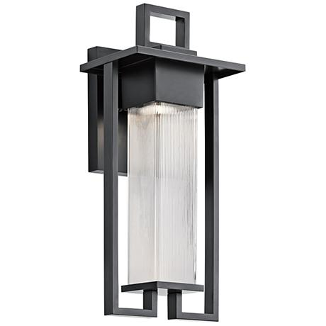 "Kichler Chlebo 21 1/4""H Black Outdoor Halogen Wall Light"