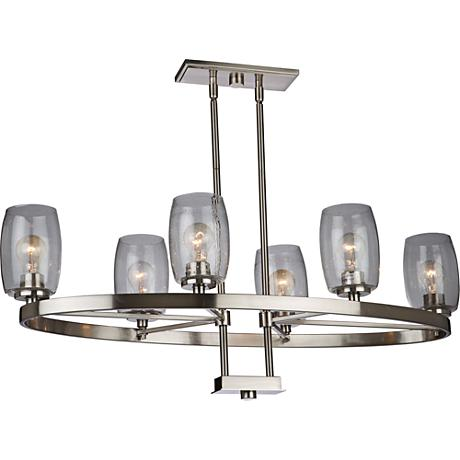 "San Antonio 18""W Brushed Nickel 6-Light Island Pendant"