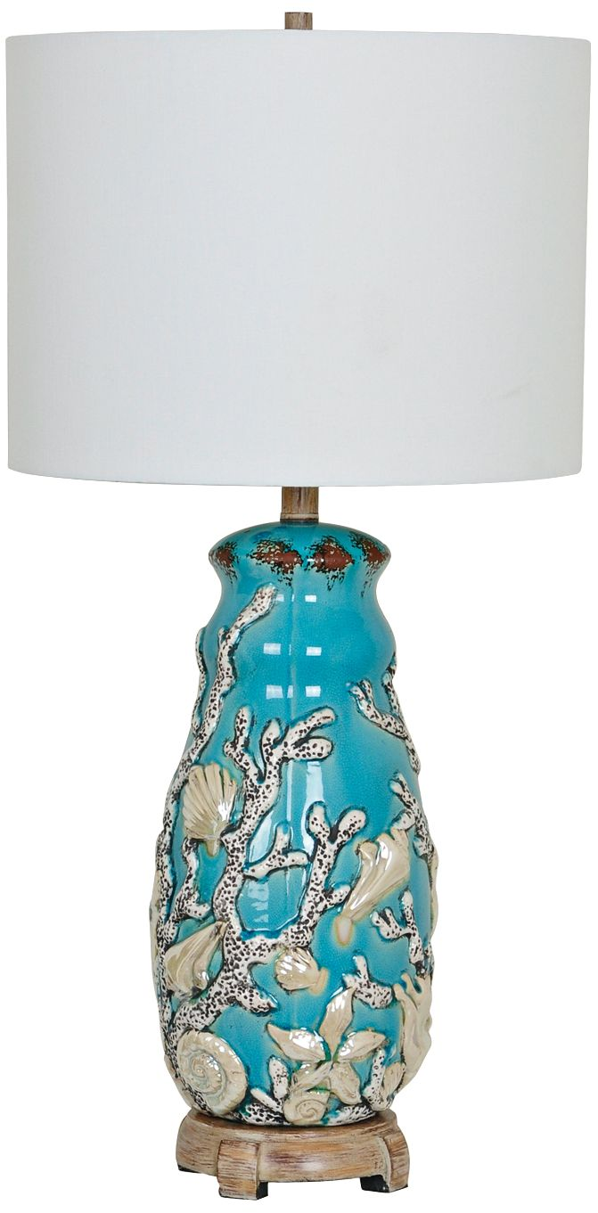 Crestview Collection Reef Turk And Coral Table Lamp