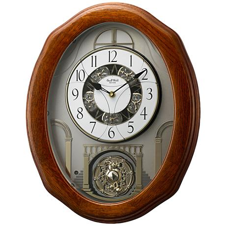 "Glory Espresso 19 3/4"" High Motion Wall Clock"