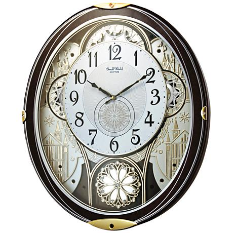 "Gala Wood 18 1/4"" High Motion Wall Clock"
