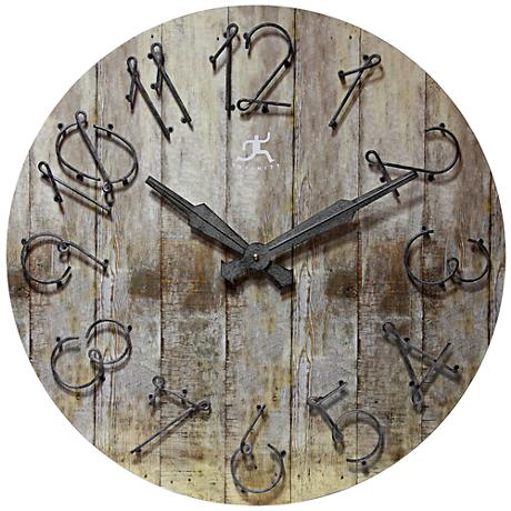 "Wild West 23 3/4"" Round Wall Clock"