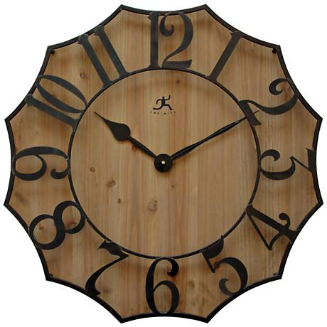 "Webbed 26 3/4"" Wide Black Metal Wall Clock"