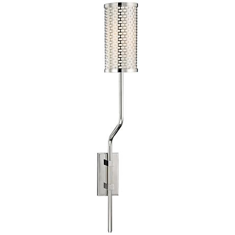 "Hudson Valley Hugo 25 1/2""H Polished Nickel Wall Sconce"