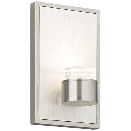"Dobson 7""H Satin Nickel LED Wall Sconce"