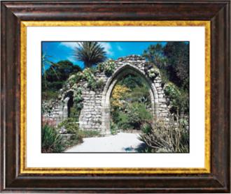 Gothic Arch Ruins Copper Bronze Frame Giclee Wall Art (F0362-18014)
