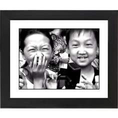 "Laughter Black Frame Giclee 23 1/4"" Wide Wall Art"