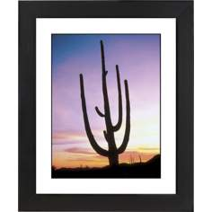 Saguaro Cactus & Sunrise Black Frame Giclee Wall Art