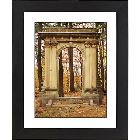 "Gothic Arch In Autumn Black Frame 23 1/4"" High Wall Art"