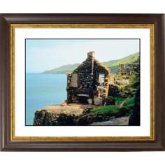 Abandoned Seaside Cottage Gold Bronze Frame Giclee Wall Art
