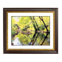 Tranquil River Gold Bronze Frame Giclee Wall Art