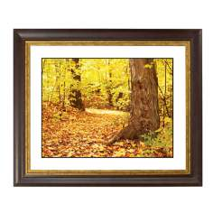 Autumn Carpet Gold Bronze Frame Giclee Wall Art