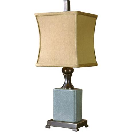 Uttermost Blue Crackle Porcelain Table Lamp