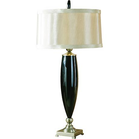 Uttermost Black Glass Table Lamp
