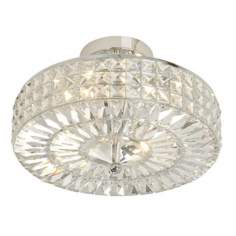 "Crystal Basket 14"" Wide Ceiling Light Fixture"