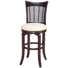 "Hillsdale Bayberry Cherry 30"" High Swivel Bar Stool"