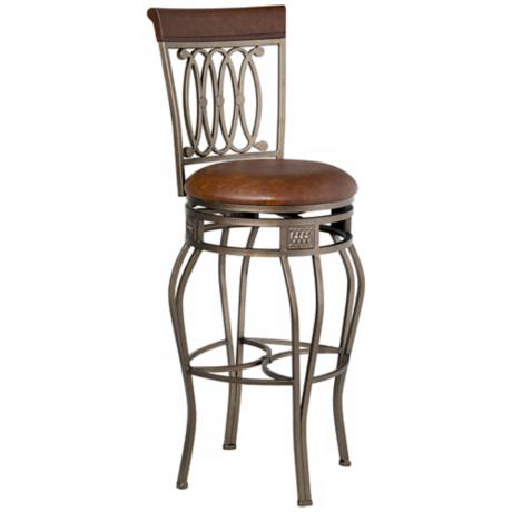 "Hillsdale Montello Old Steel Swivel 32"" High Bar Stool"