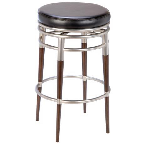 "Hillsdale Salem Backless Swivel 27"" High Counter Stool"