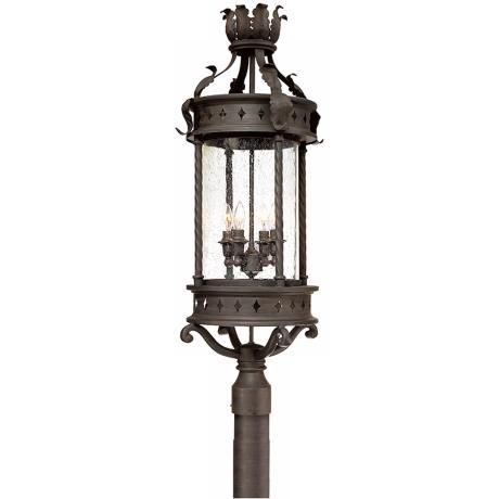 "Los Feliz 34"" High Outdoor Post Mount Light"