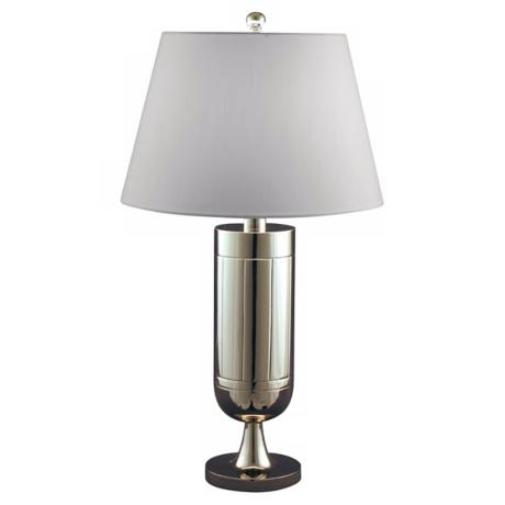 Polished Nickel Solid Brass Trophy Table Lamp
