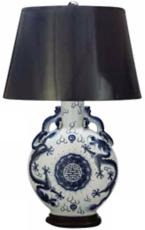 Oscar de la Renta Imperial Dragon Porcelain Table Lamp