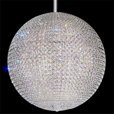 "Schonbek Da Vinci Collection 36"" Wide Crystal Pendant Light"
