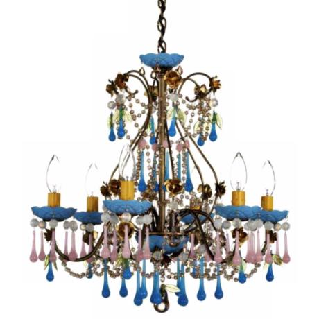 "Rose Sweet Juliett 6-Light 19"" Wide Chandelier"